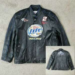 Chase Authentics Rusty Wallace Leather Jacket XL